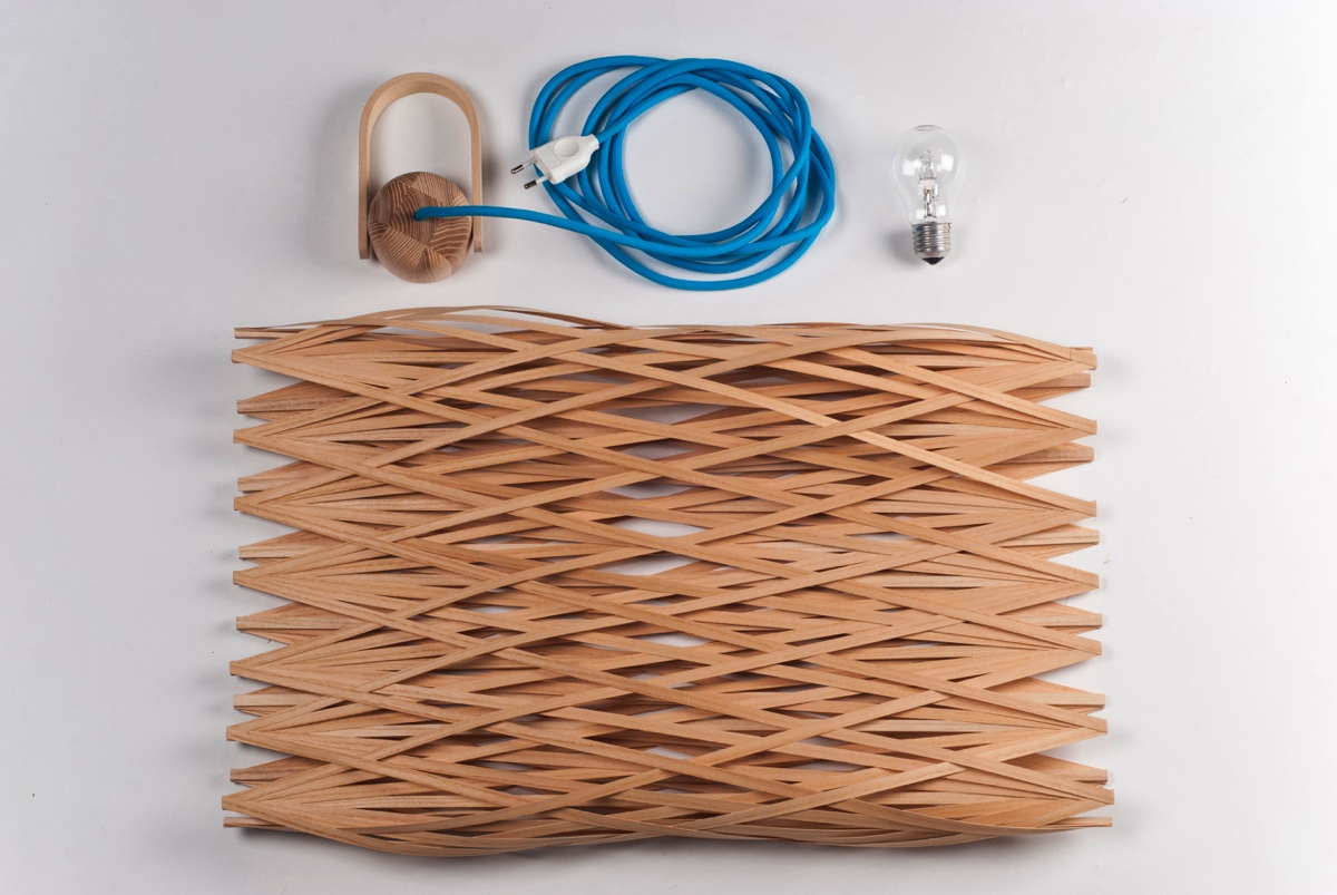The Basketlamp is quickly reassembled.
